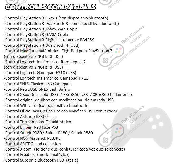controles compatibles