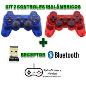 2 controles inalámbricos PS3